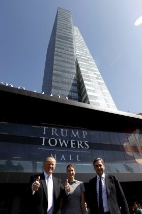 President Trump and his eldest daughter, Ivanka Trump, in 2012 at the opening of Trump Towers Istanbul. With them is Mehmet Ali Yalcindag, who became a friend of the Trump family.