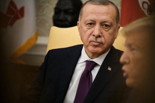 President Recep Tayyip Erdogan of Turkey with President Trump at the White House on Wednesday.