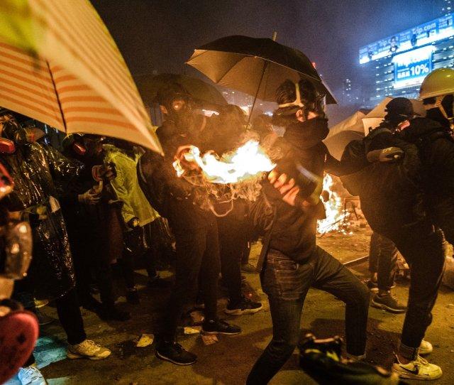 Hong Kong Violence Escalates As Police And Protesters Clash At