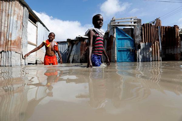 Inundaciones en octubre en Mogadiscio, Somalia