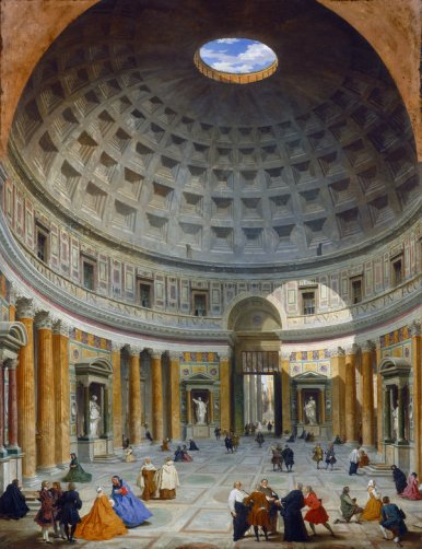 "Giovanni Paolo Panini's ""Interior of the Pantheon, Rome"" (circa 1734)."