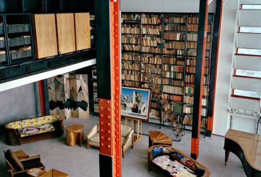 The Maison de Verre's triple-height salon, photographed in 2005.