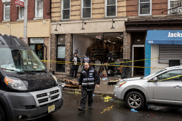 The scene at a kosher market in Jersey City where two armed attackers and three other people were killed.