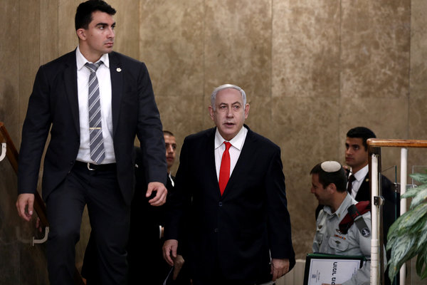 Prime Minister Benjamin Netanyahu of Israel, center, still commands a strong and emotional following within his party.
