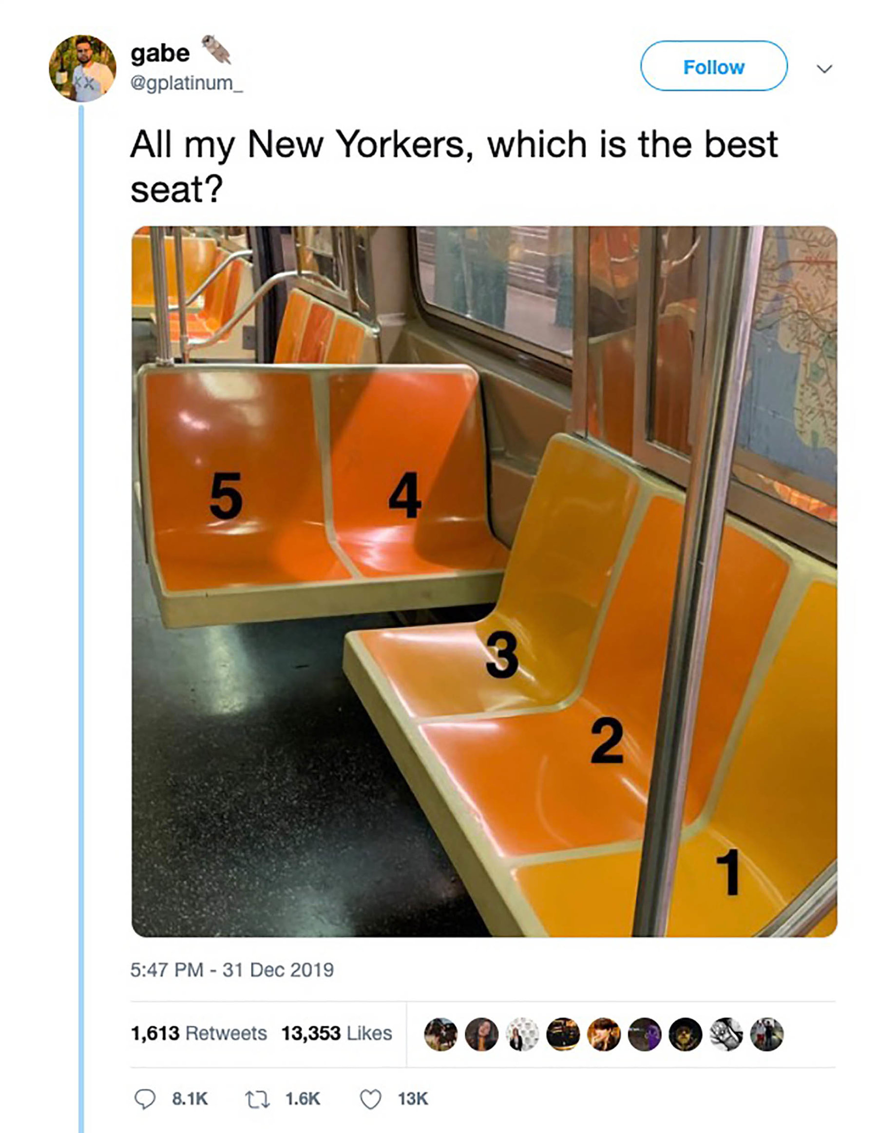 Which Subway Seat Is Best Your Answer Is Obviously Wrong The