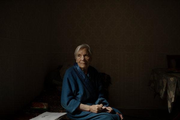 "Antonina Novosad, 93, spent 10 years in the Kolyma prison camp. ""Stalin was God,"" she said."