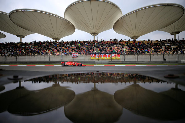 A qualifying session of the Chinese Formula One Grand Prix in Shanghai last year.
