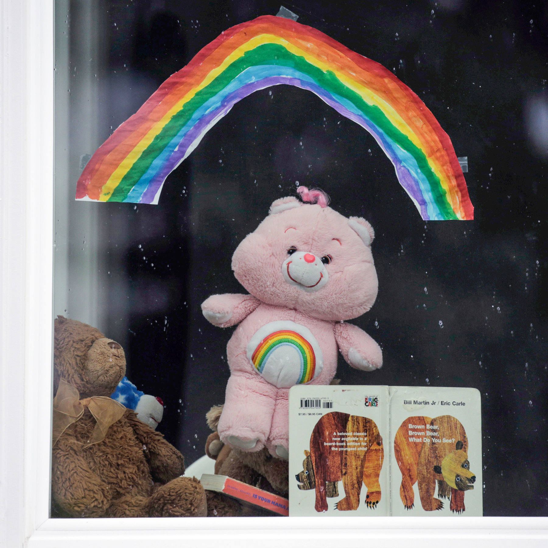 Children Are Hunting Teddy Bears During The Coronavirus Outbreak