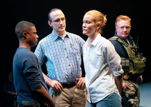 "From left, TL Thompson, Pete Simpson, Emily Davis and Becca Blackwell in ""Is This a Room."""