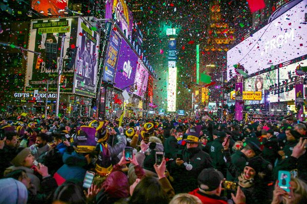 Times Square on New Year?s 2020.