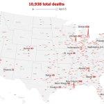See How The Coronavirus Death Toll Grew Across The U S The New York Times
