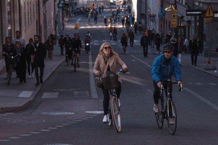 Götgatan Street in Sodermalm, Stockholm. Sweden has placed no limits on public transport.