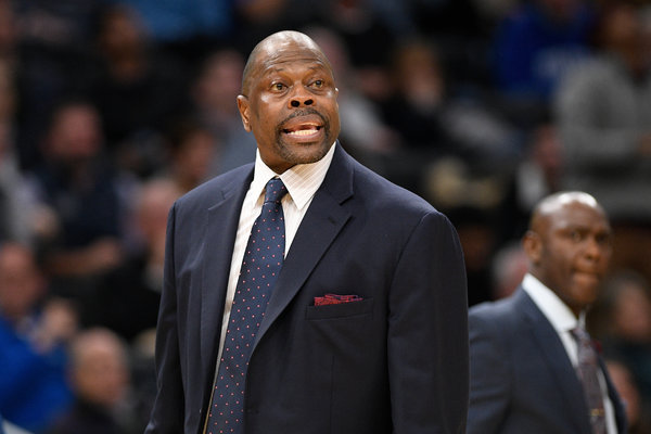 Patrick Ewing, now the basketball coach at Georgetown, said on Friday that he had tested positive for the coronavirus.