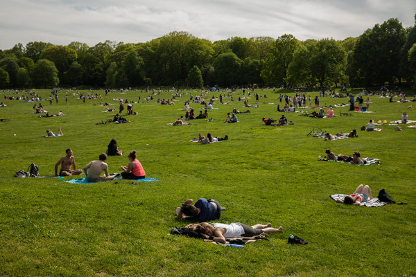 Prospect Park in Brooklyn on May 16.