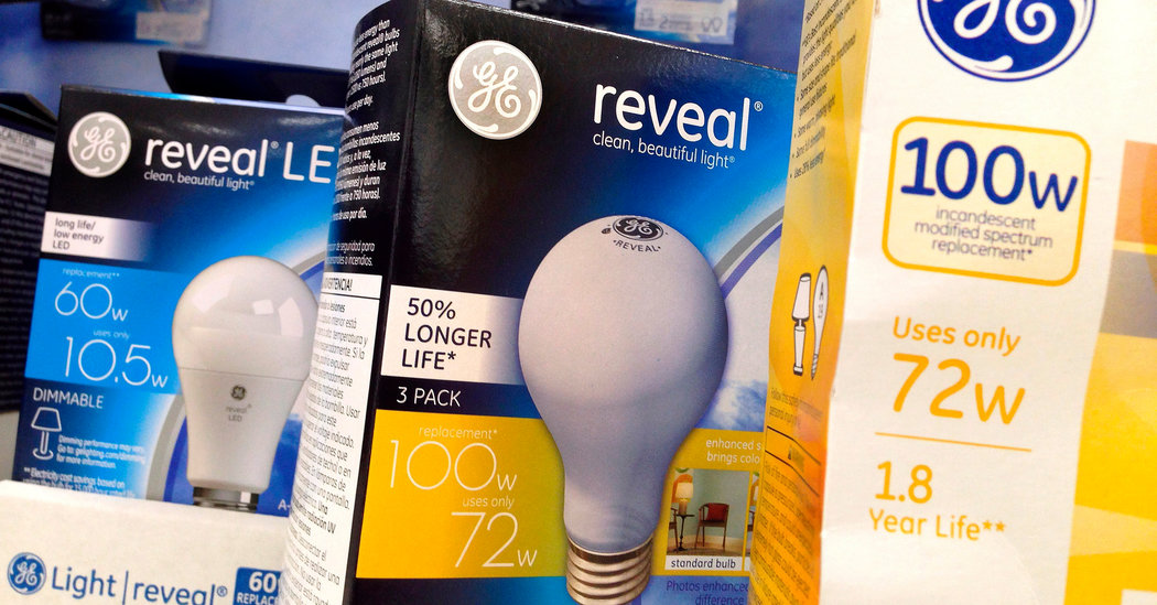 G.E., Which Traces Its Roots to Thomas Edison, Sells Its Lighting Business