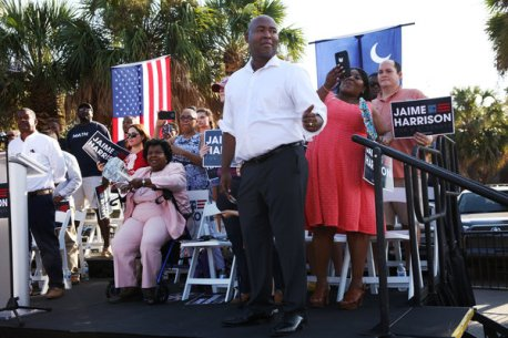 Jaime Harrison, who served as chairman of the state Democratic Party, has toed the moderate line during his Senate campaign.