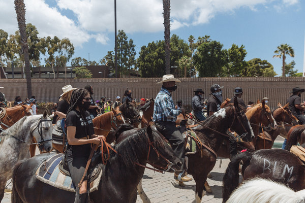The Compton Cowboys Peace Ride was organized as a show of solidarity for the city's black community.