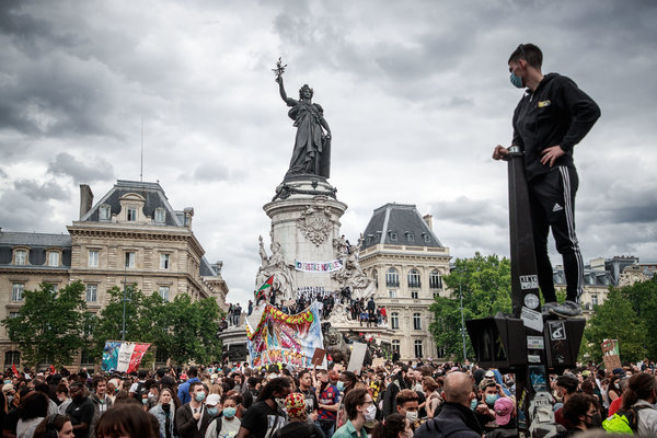 Protests in Paris last month against police brutality and racism.