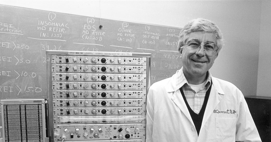 Dr. William Dement, Leader in Sleep Disorder Research, Dies at 91