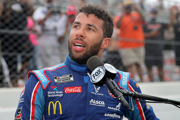 Wallace, the only black driver in NASCAR's premier series, had called for racing officials to ban the Confederate battle flag from events.
