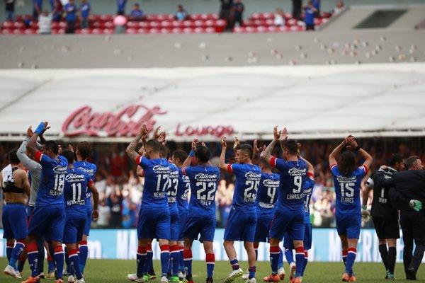 Jugadores del Cruz Azul en julio de 2018