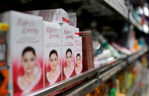 Shops in India are full of skin-lightening products like Unilever's Fair & Lovely cream.