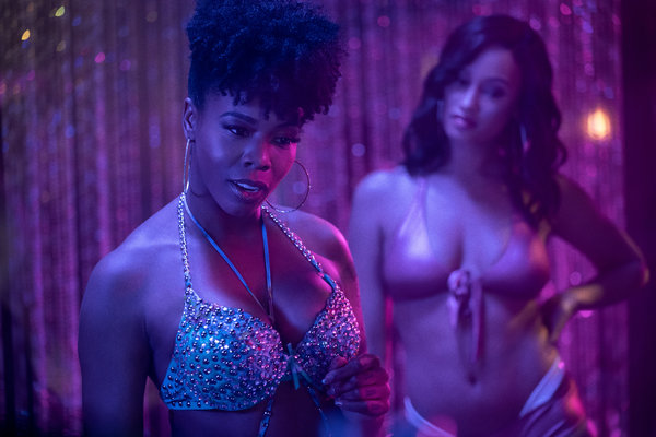 Brandee Evans, left, and Elarica Johnson star as dancers with complex back stories and ambitions.