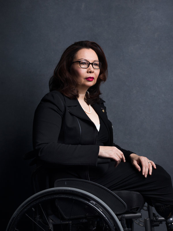 Senator Tammy Duckworth of Illinois, in 2018.