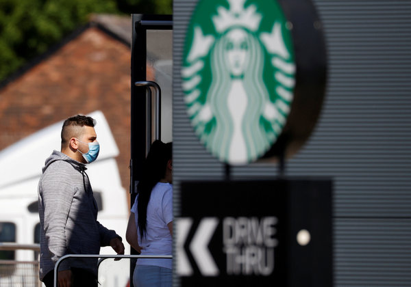 Starbucks will require customers to wear masks in all of its U.S. stores.