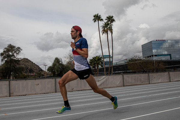 Before the pandemic hit, Kyle Merber spent several weeks in Arizona to train for the Olympics.