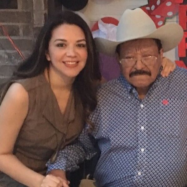 Cris Flores, left, and her grandfather, Ramon Contreras.
