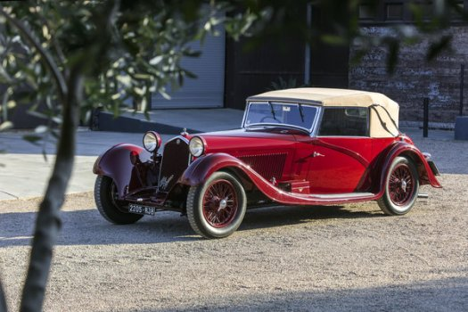 A 1934 Alfa Romeo 8C 2300 Cabriolet by Figoni, which the auction house Bonhams estimates will sell for up to $7.5 million.