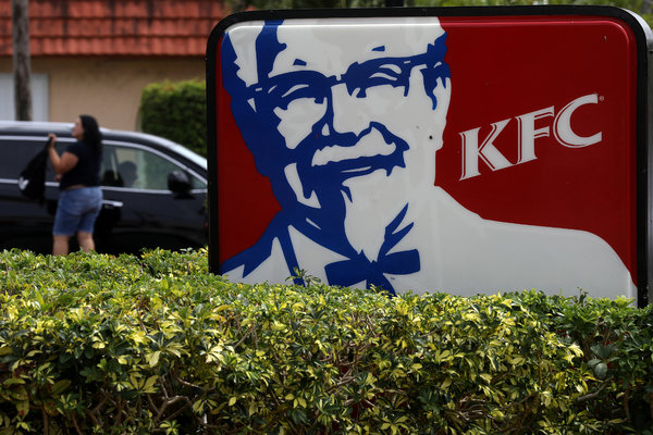 """After closing dining rooms in corporate-owned restaurants in Florida, KFC encouraged franchisees in Florida and other virus """"hot spot states"""" such as Arizona, California and Texas to follow suit."""