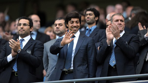 Manchester City's benefactor, Sheikh Mansour bin Zayed al-Nahyan, in 2010. The club has been transformed under his aegis.