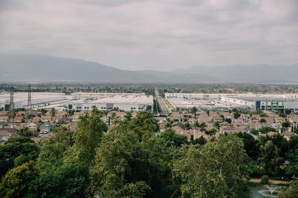 Warehouses have sprawled across the land in the Inland Empire.