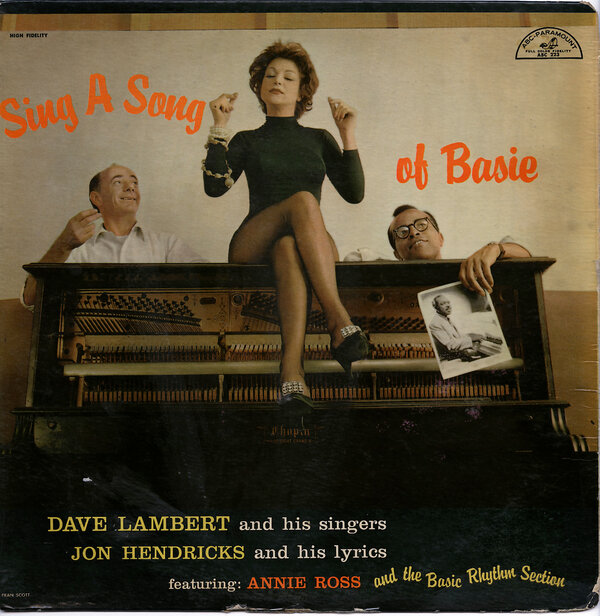 """Ms. Ross first joined forces with Mr. Lambert and Mr. Hendricks for the album """"Sing a Song of Basie,"""" recorded in 1957."""