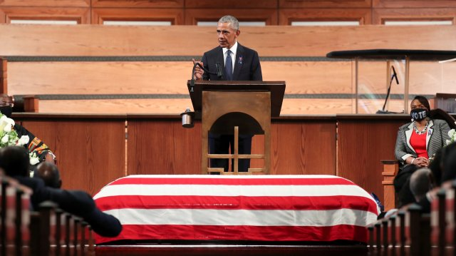 President Barack Obama's Eulogy for John Lewis: Full Transcript ...