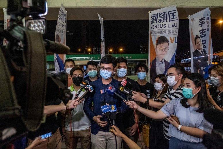 劉頴匡是上周四被取消今年9月立法會選舉參選資格的候選人之一。