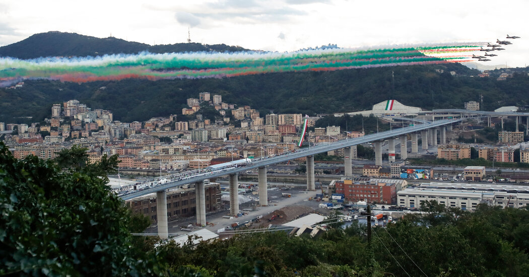 Italy Leaders Hail Genoa's New Bridge as Sign of Resilience