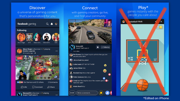 Android: Facebook said it had made changes to its Gaming app to get Apple's approval for its App Store.