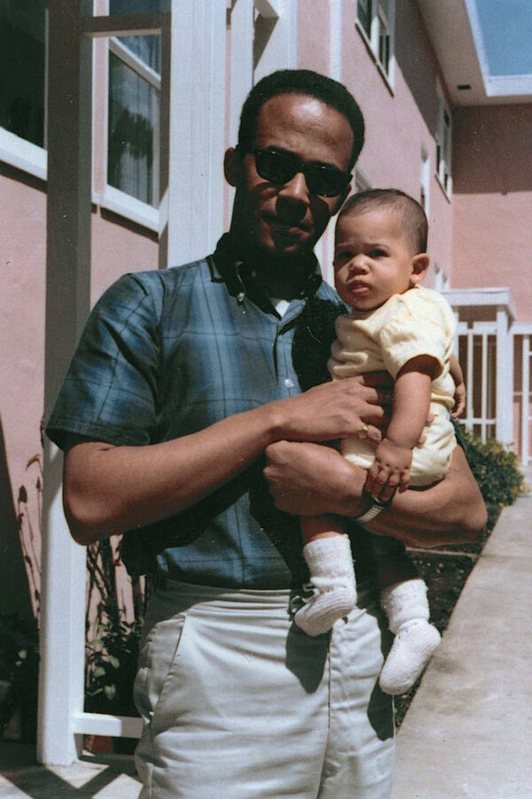 Donald Harris holds his daughter, Kamala, in 1965.