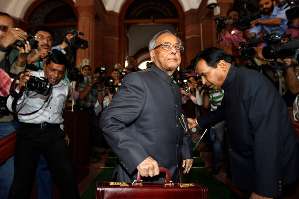 As finance minister, Mr. Mukherjee delivered the annual budget to India's Parliament in 2012.