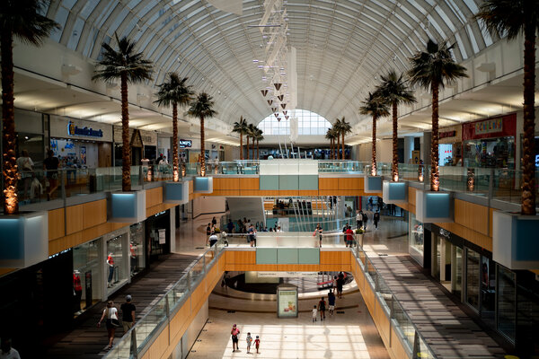 Social distancing rules during the pandemic have thinned out foot traffic at malls, including the Galleria Dallas.