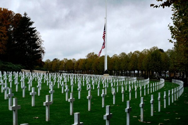 President Trump canceled a 2018 visit to the Aisne-Marne American Cemetery in France, where American World War I veterans are buried.