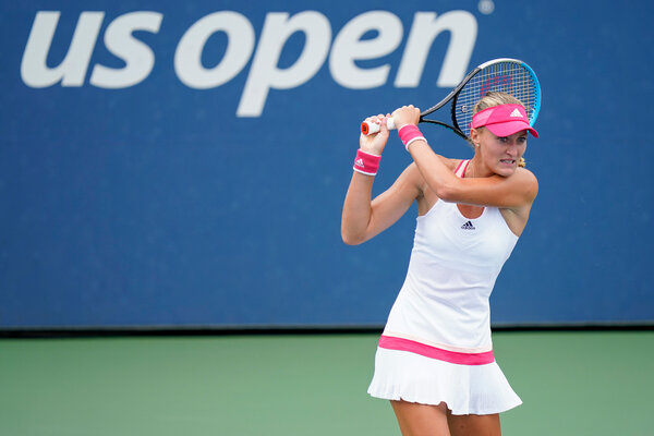 Kristina Mladenovic of France and her doubles partner were disqualified from the United States Open because of Mladenovic's contact with a different player who had tested positive for the coronavirus.  The U.S. Open Descends Into Pandemic Precaution Chaos merlin 176488908 8e98dda1 fe8a 45ae ad99 5366de2f66f8 articleLarge
