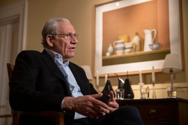 Bob Woodward, whose new book about President Trump comes out next week, has drawn criticism for withholding until now Mr. Trump's early comments to him about the deadliness of the coronavirus.