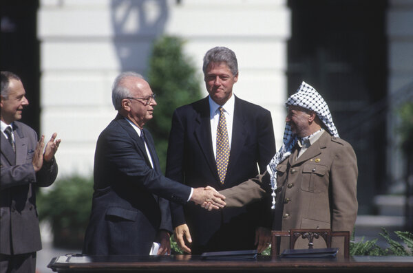 The Oslo peace accords between Israel and the Palestine Liberation Organization were signed in 1993.