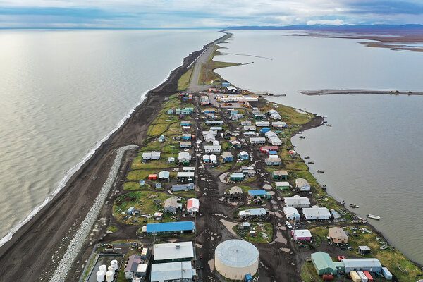 Kivalina, Alaska, on the Chukchi Sea,in September 2019. It is one of many Native villages threatened by eroding coastlines.