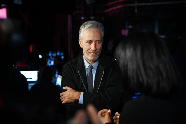 """""""Unfortunately we place our veterans in almost the position of defendant, like at a trial over their own health,"""" Jon Stewart said.  Election Updates: Fires and Coronavirus Shadow Trump on Campaign Trail merlin 163873563 012241cb 0708 469c 8bec 4e96a426e204 articleLarge"""
