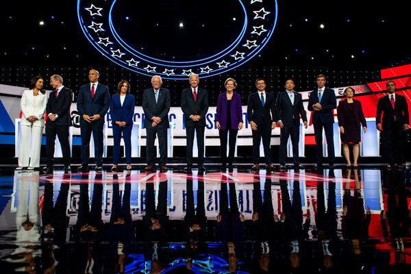 Last year's unwieldy Democratic primary debate season stuffed as many as 12 candidates onto a single stage.